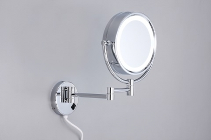 Brass LED Wall-Mounted Mirror