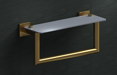 18E19 Model of Francine Shelf with Towel Bar