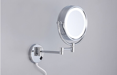 Wall-Mounted LED Mirror with Elegant Design