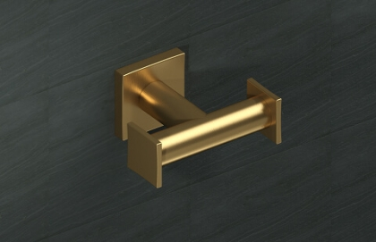 18E10D Brass Francine Double Hook